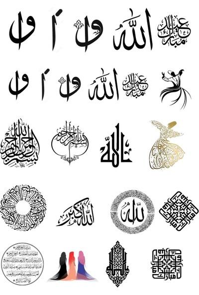 Alaca Sanat Epoksi Reçine Dini Islami Figür, Şeffaf Film Sticker Kalıp