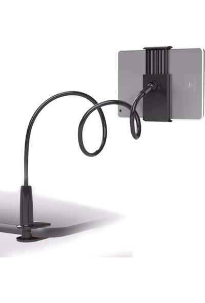 Wlue Masaüstü Telefon ve Tablet Tutucu 360° Flexible 72 cm Siyah