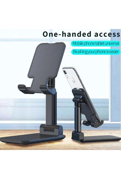 Wlue Masaüstü Katlanabilir Tablet ve Telefon Tutucu Stand Siyah