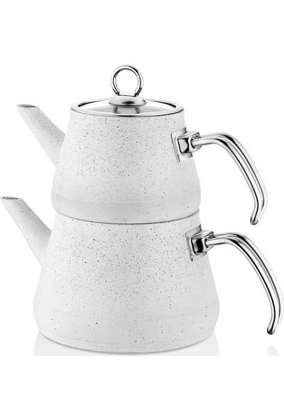 Paçi Soft Metal Saplı Granit Çaydanlık Takımı