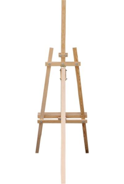 Özgün Tuval Ahşap Resim Şövalesi Ressam Sehpası Ayarlanabilir Şövale 175 cm