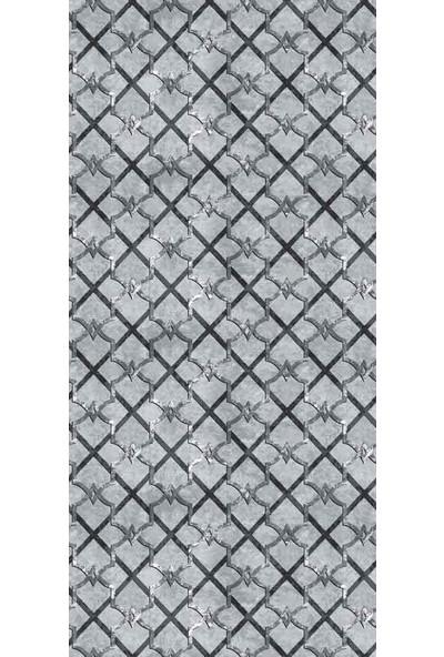 Aksu Halı Hanedan Antrasit Kaymaz Taban Jel Yolluk 100 x 120 cm
