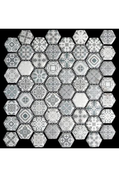 Mossaica Dijital Baskılı Altıgen Mozaik FBDJ023