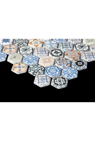 Mossaica Dijital Baskılı Altıgen Mozaik FBDJ051