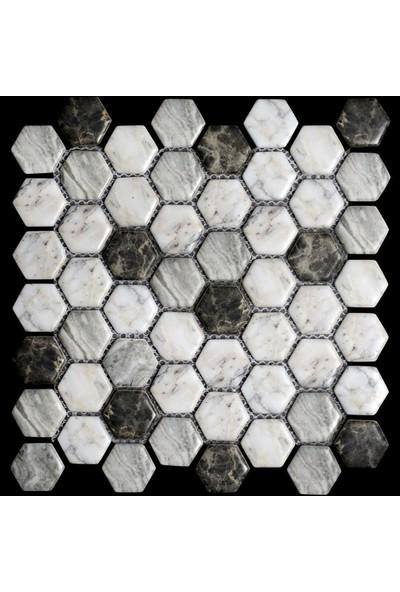 Mossaica Dijital Baskılı Altıgen Mozaik FBDJ010