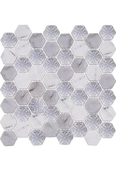 Mossaica Dijital Baskılı Altıgen Mozaik FBDJ064