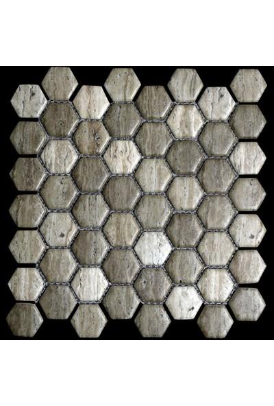 Mossaica Dijital Baskılı Altıgen Mozaik FBDJ048