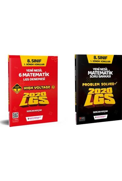 """Matematus Yayınları 2020 LGS """"High Voltage"""" Yüksek Gerilim 6'lı Matematik Denemesi + Problem Solved Matematik Soru Bankası"""