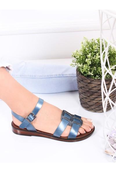 Deripabuc Deri Kadın Deri Sandalet