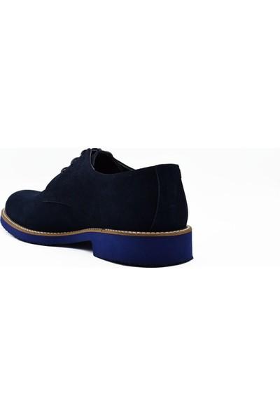 Fertini Deri Lacivert Süet Erkek Günlük Ayakkabı