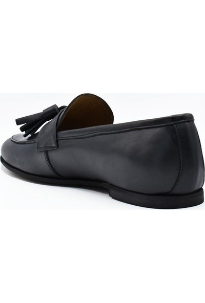 Fertini Deri Siyah Kadın Konfor Ayakkabı