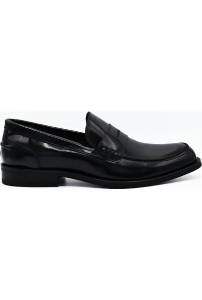 Fertini Deri Siyah Loafer Erkek Ayakkabı