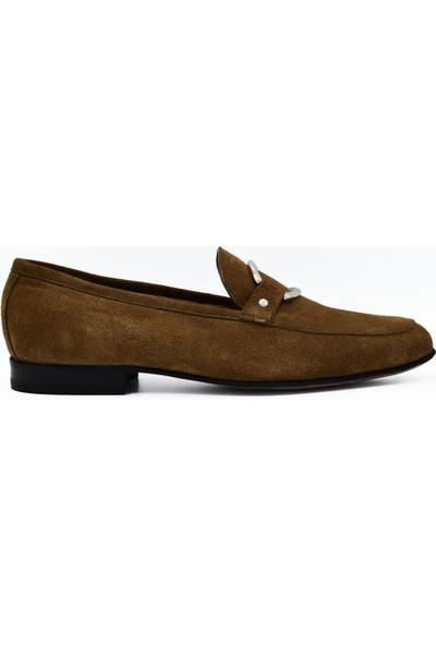 Fertini Deri Tarçın Süet Tokalı Kadın Günlük Ayakkabı