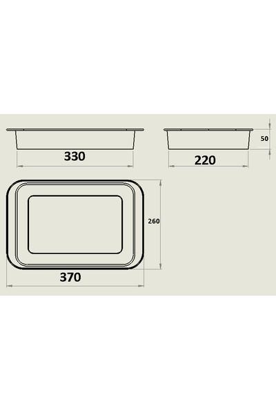 Emaye Fırın Tepsisi Kare 37X27X5,5 cm