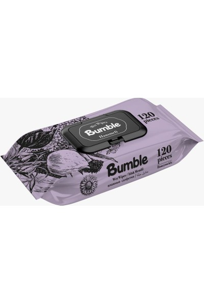 Bumble Hanımeli Kapaklı Islak Mendil 24'lü x 120'li Paket 2880 Yaprak