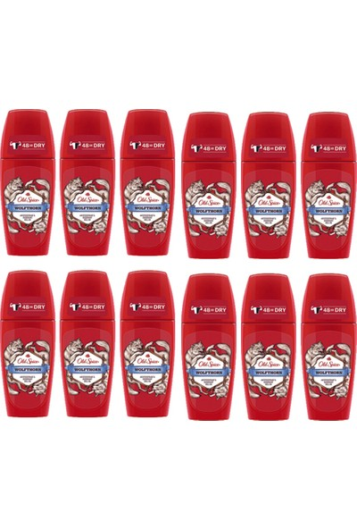 Old Spice Roll On Deodorant 50 ml Wolfthorn 12 Adet