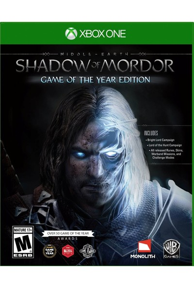 Middle Earth Shadow Of Mordor Game Of The Year Edition Xbox One Oyun