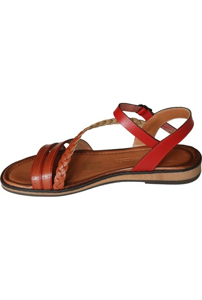 Mammamia D20YS 1770 Kadın Sandalet Kahverengi Kırmızı