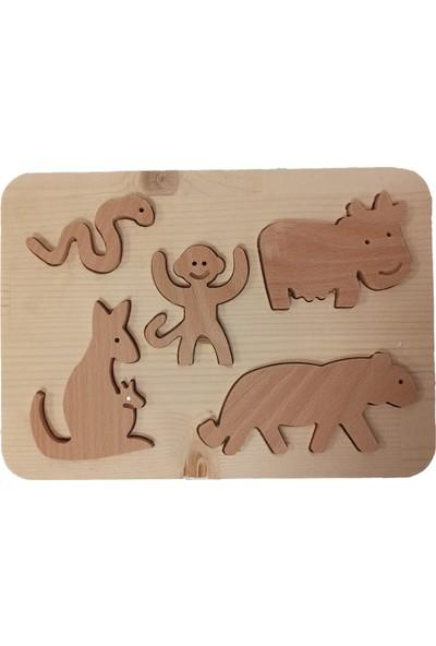 Zumbul Oyuncak Ahşap Yapboz Oyuncak - Sevimli Hayvanlar 2