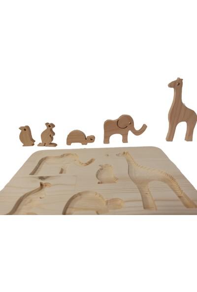 Zumbul Oyuncak Ahşap Yapboz Oyuncak - Sevimli Hayvanlar 1