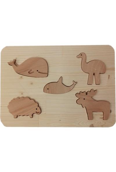 Zumbul Oyuncak Ahşap Yapboz Oyuncak - Sevimli Hayvanlar 3