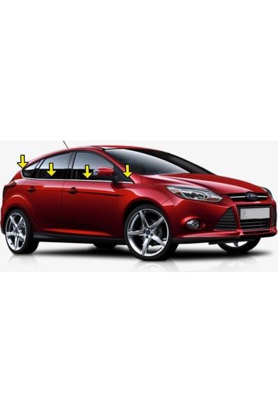 Başkent Oto Ford Focus Hb Krom Cam Çıtası 8 Parça 2011 Üzeri Paslanmaz Çelik