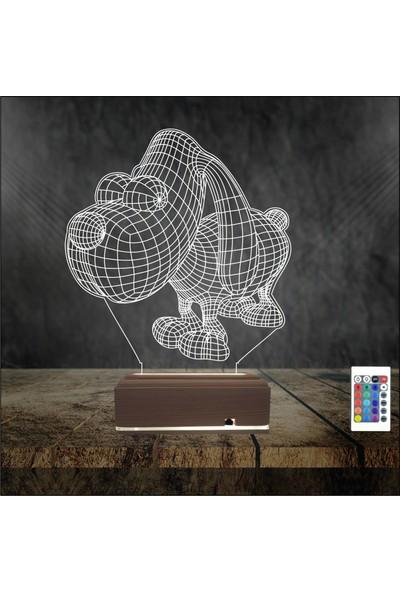 Algelsin 3 Boyutlu LED Sevimli Köpek Tasarımlı Masa Lambası