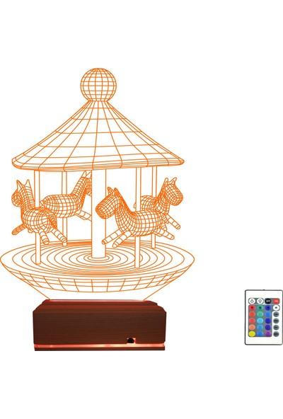 Algelsin 3D 3 Boyutlu Atlı Karınca Tasarımlı Masa Lambası