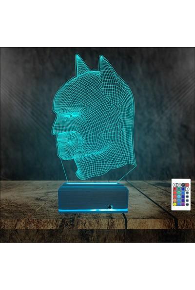 Algelsin 3D 3 Boyutlu Batman Tasarımlı 3D Masa Lambası