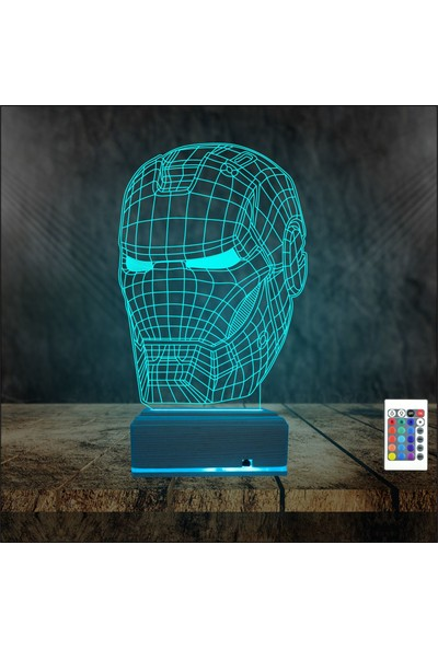 Algelsin 3D 3 Boyutlu Demir Adam Tasarımlı LED Masa Lambası