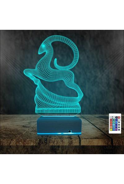 Algelsin 3D 3 Boyutlu Hayvan Tasarımlı Masa Lambası