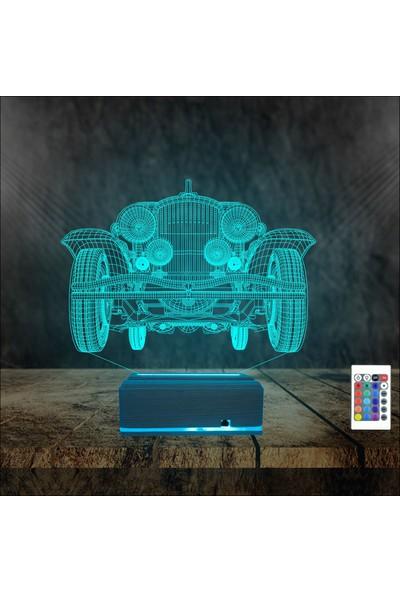 Algelsin 3D 3 Boyutlu LED Araba Tasarımlı Masaüstü Lamba