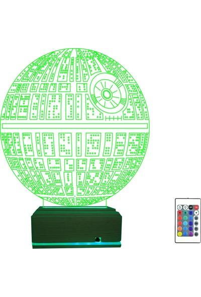 Algelsin 3D 3 Boyutlu LED Dünya Tasarımlı 16 Renkli Masa Lambası