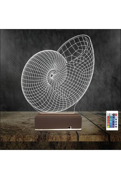Algelsin 3D 3 Boyutlu LED Geometrik Tasarımlı Masa Lambası