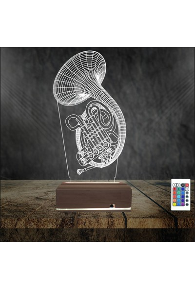 Algelsin 3D 3 Boyutlu LED Müzikseverlere Özel Masaüstü Lamba