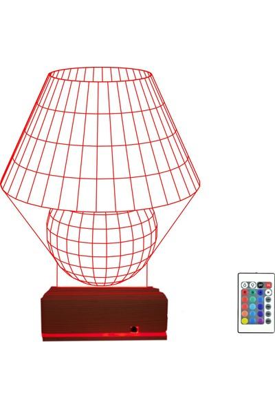 Algelsin 3D LED Tasarımlı Masa Lambası