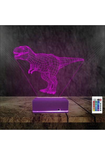 Algelsin Gece Lambası Dinozor Modelli 16 Renkli Masa Lamba