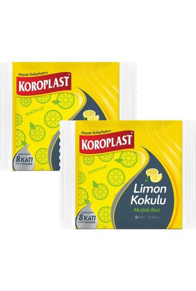 Koroplast Limon Kokulu Mutfak Bezi 3 Adet - 2'li