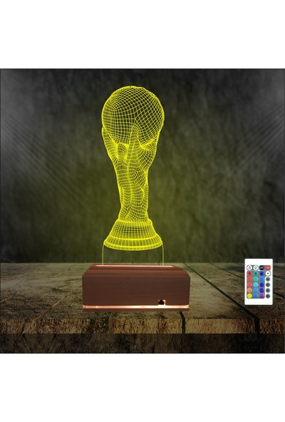 Algelsin Gece Lambası Dünya Kupası Tasarımlı Masa Lambası
