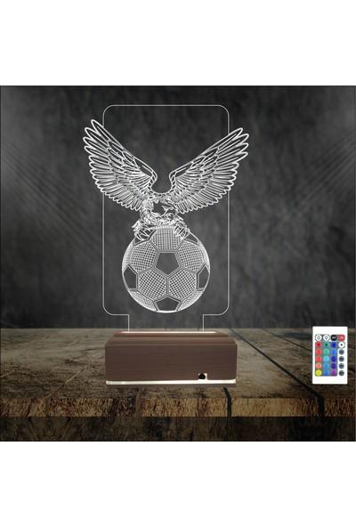 Algelsin Gece Lambası Kartal Futbol Topu Tasarımlı Lamba