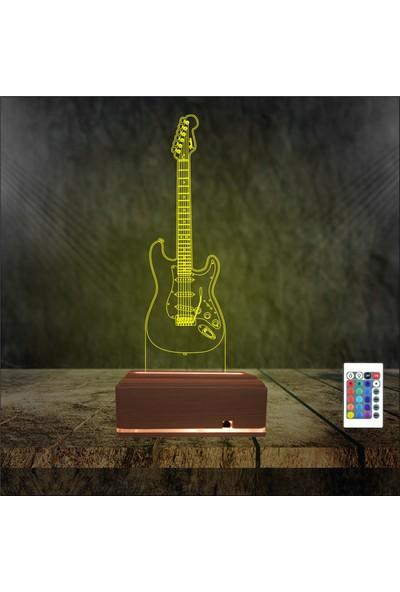 Algelsin Gece Lambası Müzik Severlere Gitar Masa Lambası