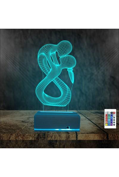 Algelsin LED Aşk Temalı Sevgiliye 16 Renkli