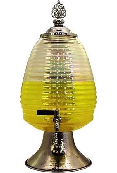 Fidex Home Şık Dekoratif Musluklu Cam Sebil 4.5 lt - Krom M1