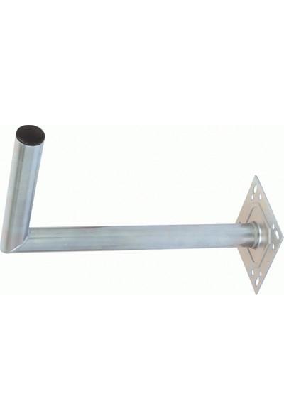 Sab 45CM Köşeli L Tipi Galvaniz Paslanmaz Çanak Anten Ayağı