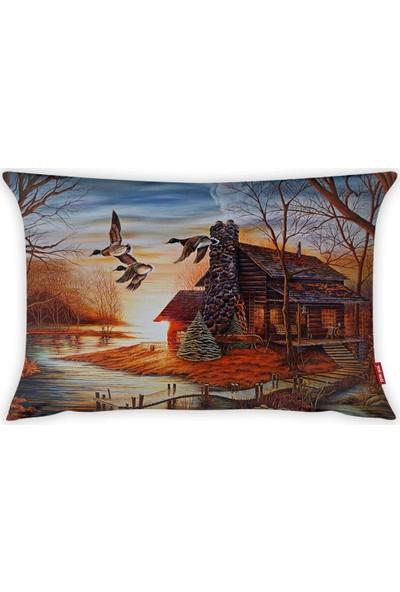 Yeni Nesil Tekstil Dekoratif 35 x 50 cm Kırlent Kılıfı A50461-K