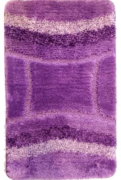 Evden Avm Kaymaz Taban Banyo Halısı Lila 50 x 80 cm