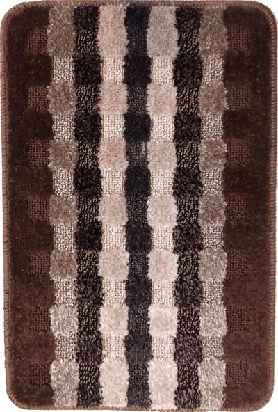 Evden Avm Kaymaz Taban Banyo Halısı Kahverengi 40 x 60 cm