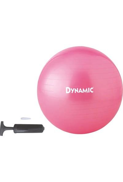 Dynamic Gymball 65 cm Pembe Pilates Topu Pompalı Kutulu