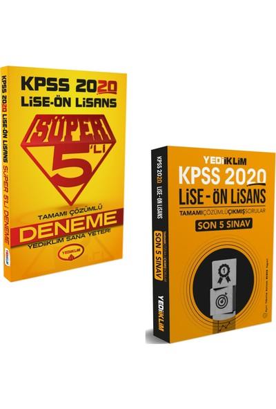 Yediiklim Yayınları 2020 KPSS Lise Ön Lisans Süper 5'li Deneme + Yediiklim Yayınları KPSS 2020 Lise Ön Lisans Son 5 Yıl Çıkmış Sorular
