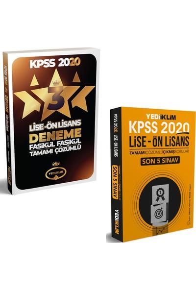 Yediiklim Yayınları 2020 KPSS Lise Ön Lisans 3 Yıldız 3 Deneme + Yediiklim Yayınları KPSS 2020 Lise Ön Lisans Son 5 Yıl Çıkmış Sorular